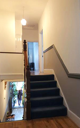 Painting and decorating of a landing at a house in Croydon