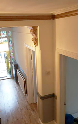 Painting and decorating of a house in Croydon