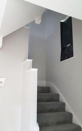 A freshly painted staircase in Croydon